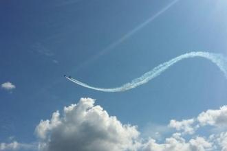 В честь Дня авиации проходило авиашоу