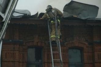 В центре Барнауле в «Доме афганцев» произошел пожар