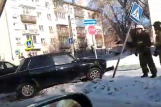 В Барнауле произошло массовое ДТП