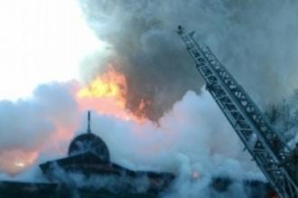 На площади Свободы в Барнауле произошел масштабный пожар