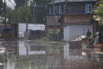 В Барнаульской Затоне началось подтопление приусадебных участков