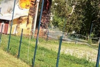 В Барнауле горел скалодром