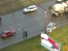 Автомобиль такси врезался в столб в Барнауле