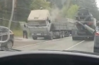 В Барнауле загорелся КАМАЗ