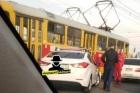 Авария заблокировала движение трамваев в Барнауле