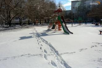 Апрельский снег в Барнауле