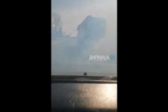 В Алтайском крае автомобиль оказался в кювете