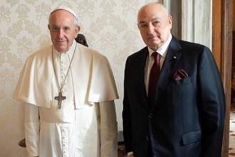 Вячеслав Моше Кантор провёл встречу с Папой Римским Франциском в Ватикане
