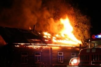 Под Бийском горел жило дом