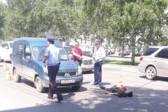 В центре Барнаула на проспекте Ленина сбили человека
