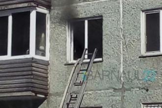 В многоквартирном доме Барнаула произошел пожар