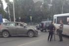 В понедельник в Барнауле произошла авария с участием маршрутки