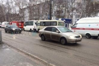 В Барнауле столкнулись две пассажирские маршрутки