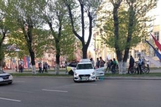 В Барнауле произошла авария с участием такси
