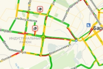 В Барнауле отмечаются сильные пробки