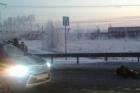 В Барнауле автомобиль Форд наехал на рабочего