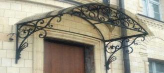 Козырёк как элемент фасадного дизайна