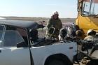 В Алтайском крае произошло ДТП с автобусом и легковым автомобилем