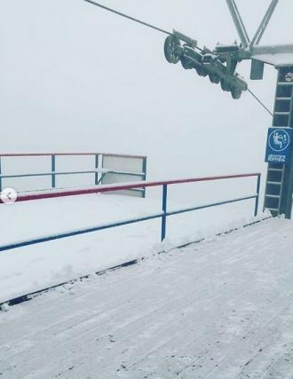 В Булокурихе уже выпал первый снег