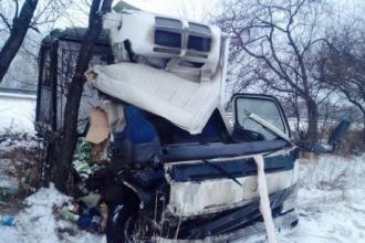 На Алтайской трассе грузовик развалился после ДТП