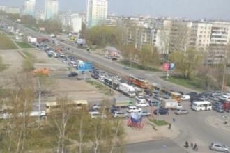 В понедельник в Барнауле были страшные пробки