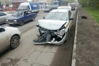 В Барнауле произошло ДТП с машиной такси