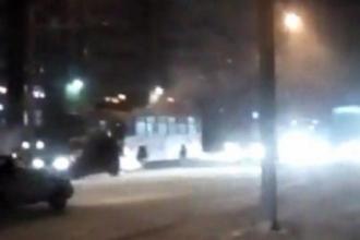 13 декабря в Барнауле загорелся трамвай