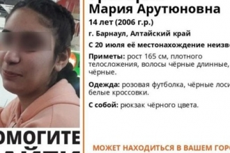 В Барнауле разыскивают 14-летнюю девочку