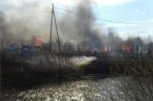 В Барнауле горели постройки