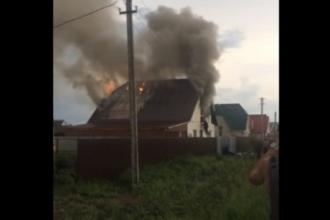 В пригороде Барнаула в дом ударила молния